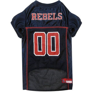 Ms Rebels Pet Jersey Extra Small / Blank Ncaa