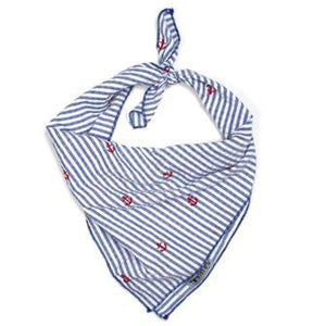 Navy Striped Lobster Bandana Bows And Neckware