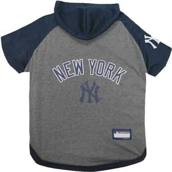 New York Yankees Lightweight Pet Hoodie Extra Small / Blank Mlb