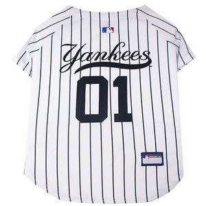 New York Yankees Pet Jersey Extra Small / Blank Mlb