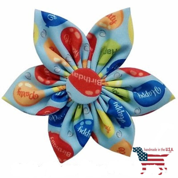 Party Time Collar Pinwheel Collection - 3 Styles Small 2.5 / Blue Bows And Neckware