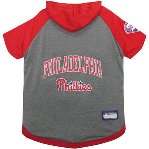 Philadelphia Phillies Lightweight Pet Hoodie Extra Small / Blank Mlb