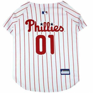 Philadelphia Phillies Pet Jersey Extra Small / Blank Mlb