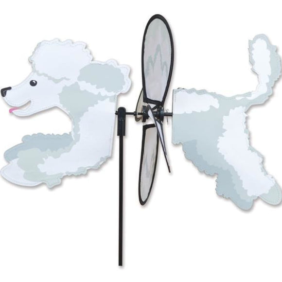 Poodle Petite Garden Spinner - Multiple Colors White Home Life