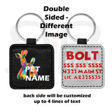 Pooh Handmade Leather Pet Tag Double Sided Different Images Id Tags
