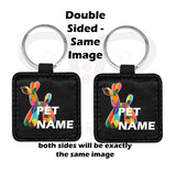 Pooh Handmade Leather Pet Tag Double Sided Same Image Id Tags