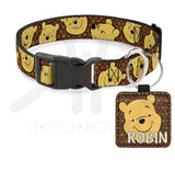 Pooh Handmade Leather Pet Tag Id Tags