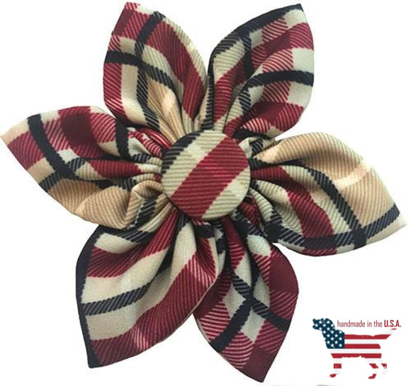 Preppy Plaids Collar Pinwheel Collection - 5 Styles Small 2.5 / Tan Plaid Bows And Neckware