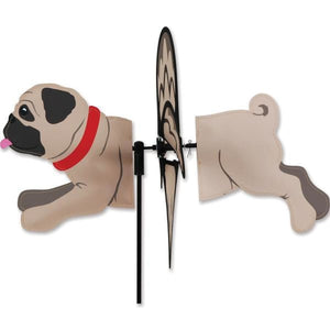 Pug Petite Garden Spinner - Multiple Colors Fawn Home Life