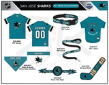 San Jose Sharks Premium Pet Jersey Nhl