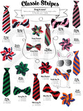 Sassy Stripes Collar Pinwheel Collection - 5 Styles Bows And Neckware
