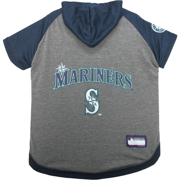 Seattle Mariners Lightweight Pet Hoodie Extra Small / Blank Mlb