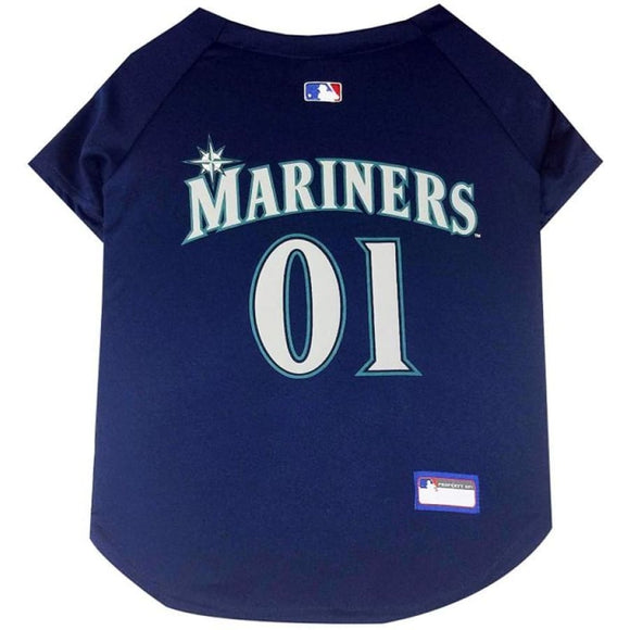 Seattle Mariners Pet Jersey Extra Small / Blank Mlb