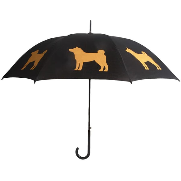 Shiba Inu Gold On Black Classic Umbrella