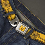 Star Wars C3-Po Seatbelt Belt For Kids And Adults Unisex Accessories