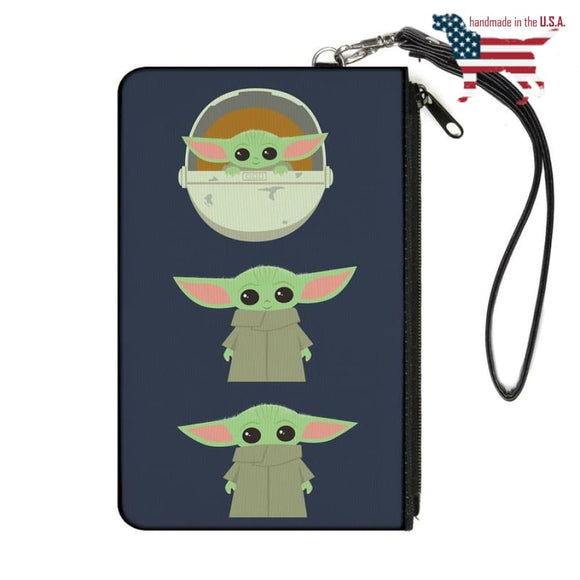 Star Wars The Child Chibi Face Classic Canvas Clutch Wallet Collars