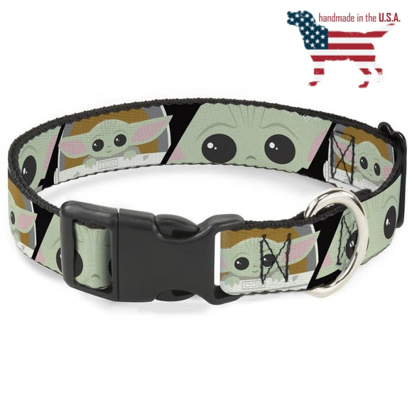 Star Wars The Child Chibi Face Collar And Leash Narrow / Small Collars