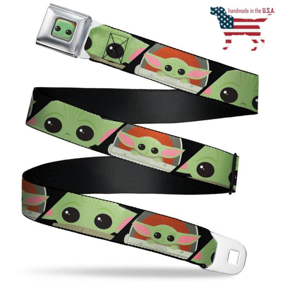 Star Wars The Child Chibi Seatbelt Belt For Kids And Adults Unisex Accessories