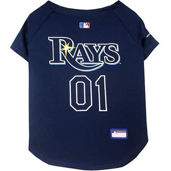 Tampa Bay Rays Pet Jersey Extra Small / Blank Mlb