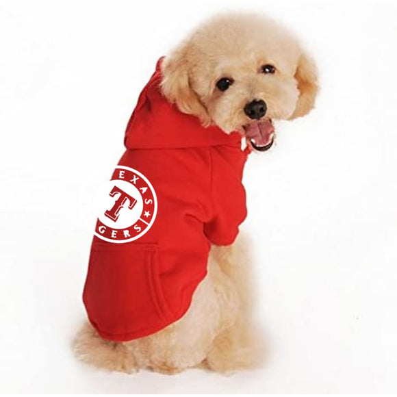 Texas Rangers Handmade Pet Hoodies Mlb