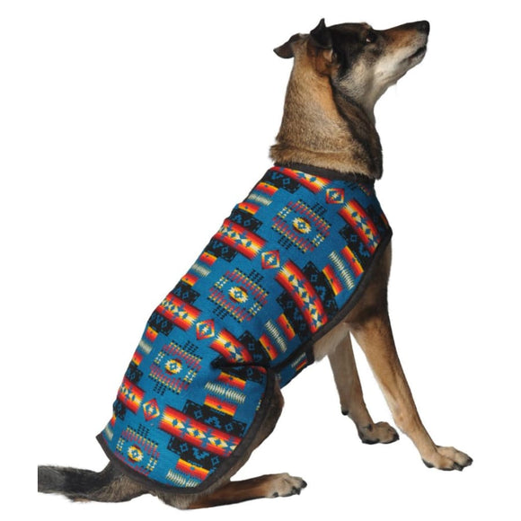 Turquoise Southwest Pet Blanket Coat Clothing & Accessories