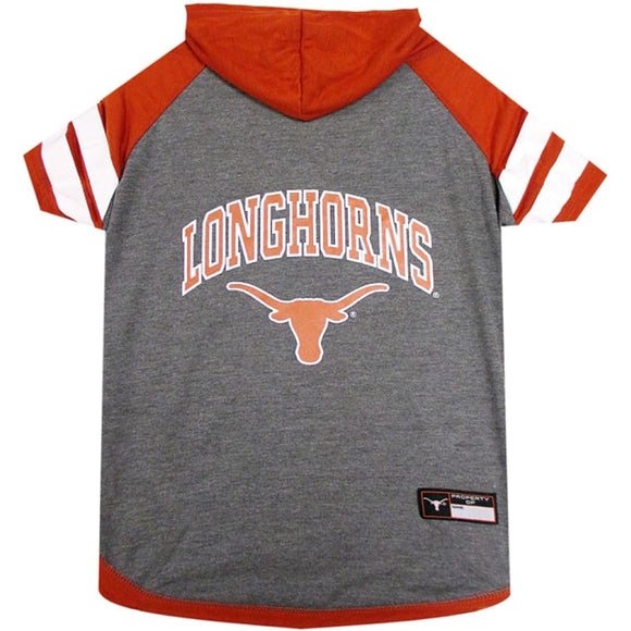 Tx Longhorns Lightweight Pet Hoodie Extra Small / Blank Ncaa