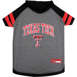 Tx Tech Red Raiders Lightweight Pet Hoodie Extra Small / Blank Ncaa