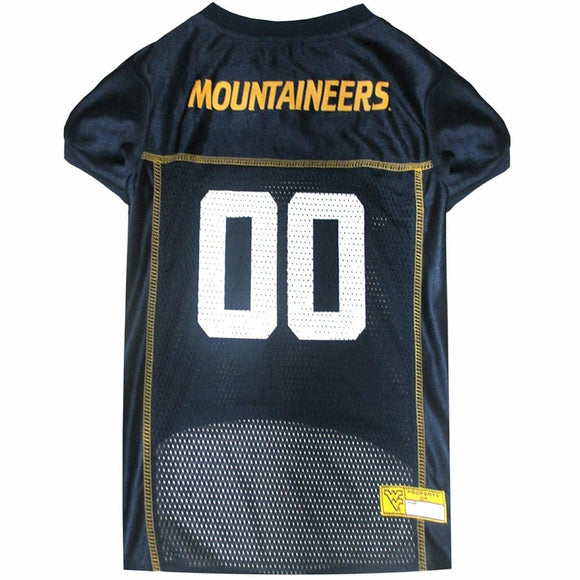 Wv Mountaineers Pet Jersey Extra Small / Blank Ncaa