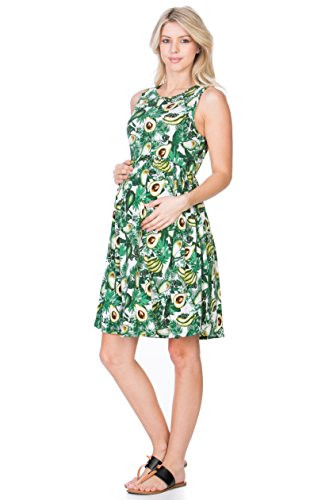 My Bump Avocado Maternity Sleeveless Dress