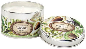Michel Design Works Avocado Soy Wax Travel Tin Candle