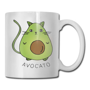 Avocado Kawaii Cat Coffee Tea Mug