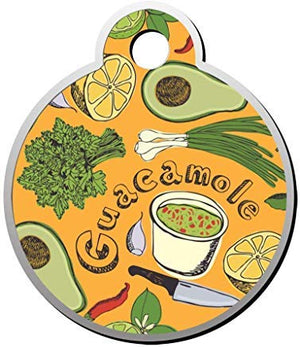 LilithCroft99 Avocado & Guacamole Dog ID Tag: Round