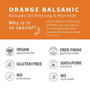 Chosen Foods Avocado Oil Based Orange Balsamic Dressing and Marinades