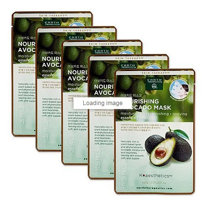 Earth Therapeutics Avocado Nourishing Face Mask Sheet (5 Pack)
