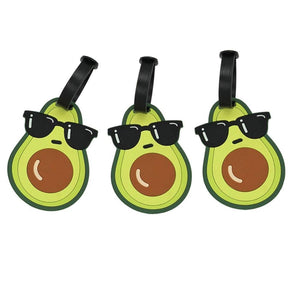 Avocado Silicone Luggage Tags (3pcs)
