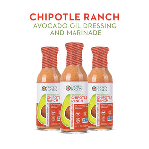 Chosen Foods Avocado Oil Based Vegan Chipotle Dressing and Marinades