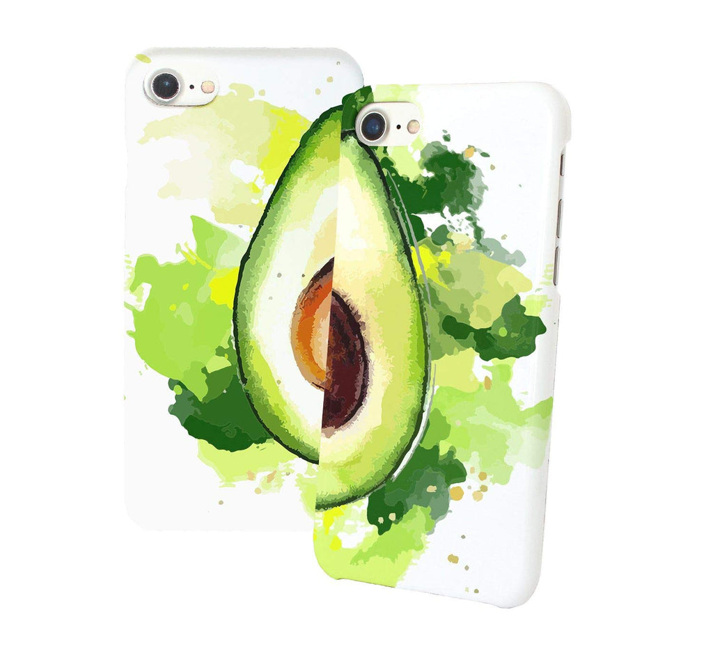 Watercolor Avocado Phone Case 2 Pack Set (For Various Types)
