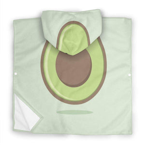 ZHOUSUN Extra Large Super Soft and Absorbent Hooded Poncho Bath Towel,Happy Avocado Pool Towel for Baby