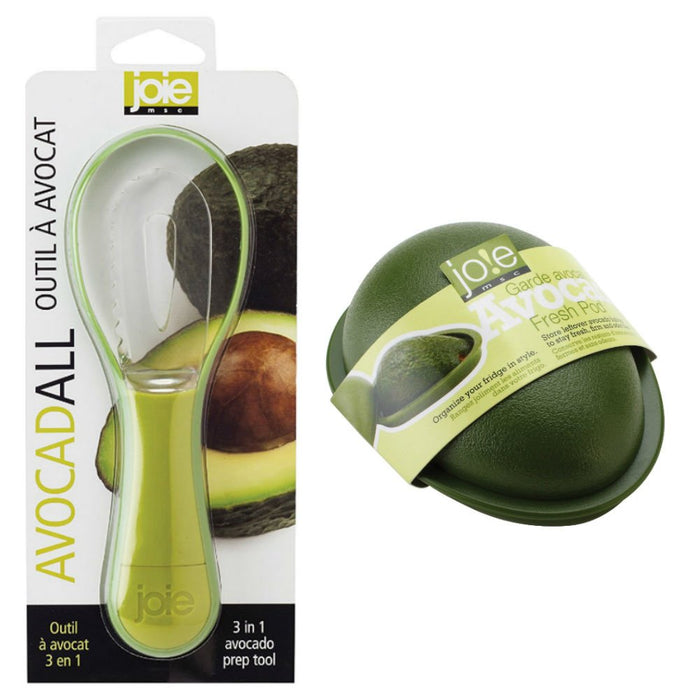 Joie Fresh Avocado Keeper and AvocadALL 3-in-1 Tool Combo