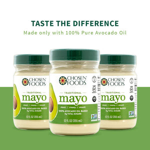Chosen Foods Avocado Oil Based Traditional Mayo: 12 oz