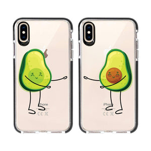 Avocado Love Phone Case 2 Pack Set For iPhone 7 to XR