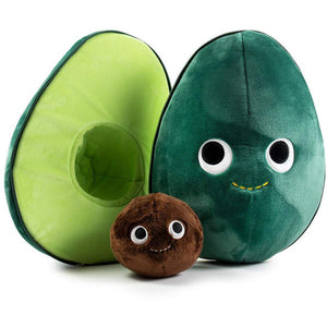 "Kidrobot Eva Avocado Soft Toy Plush 16"" + 1 Official Yummy Mini-Item"