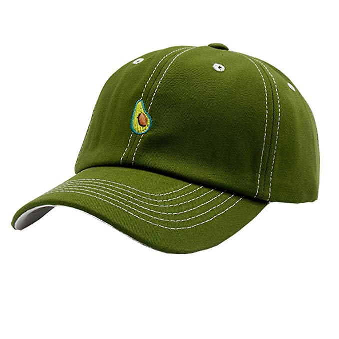 Avocado Embroidery Unisex Baseball Cap