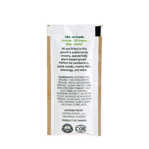 Chosen Foods Avocado Oil Based Vegan Mayo Packets 12 Pack