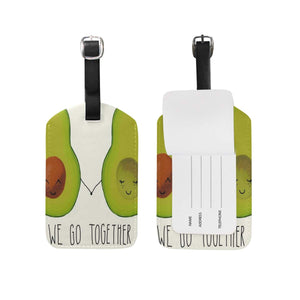 Avocado Leather Luggage Tags (6 Designs)