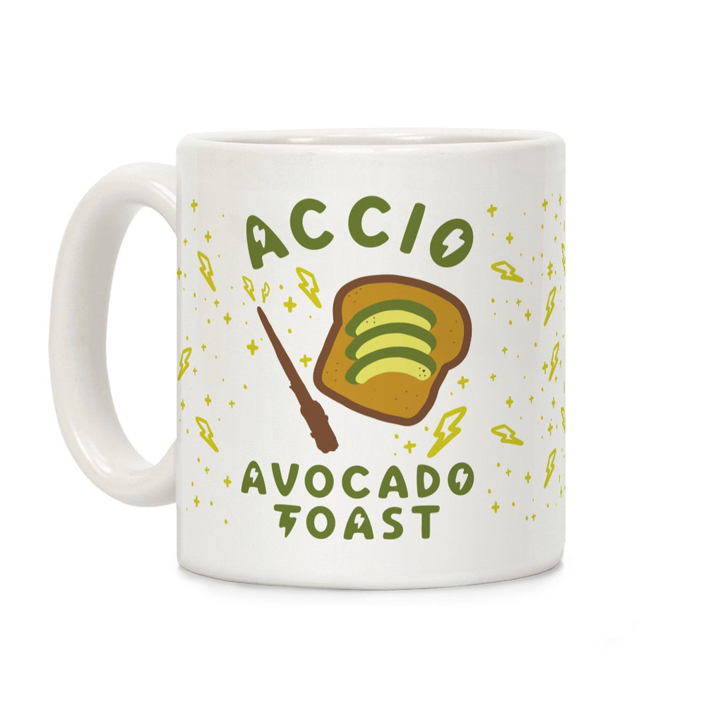 "Avocado Coffee Tea Mug ""Accio Avocado Toast"""