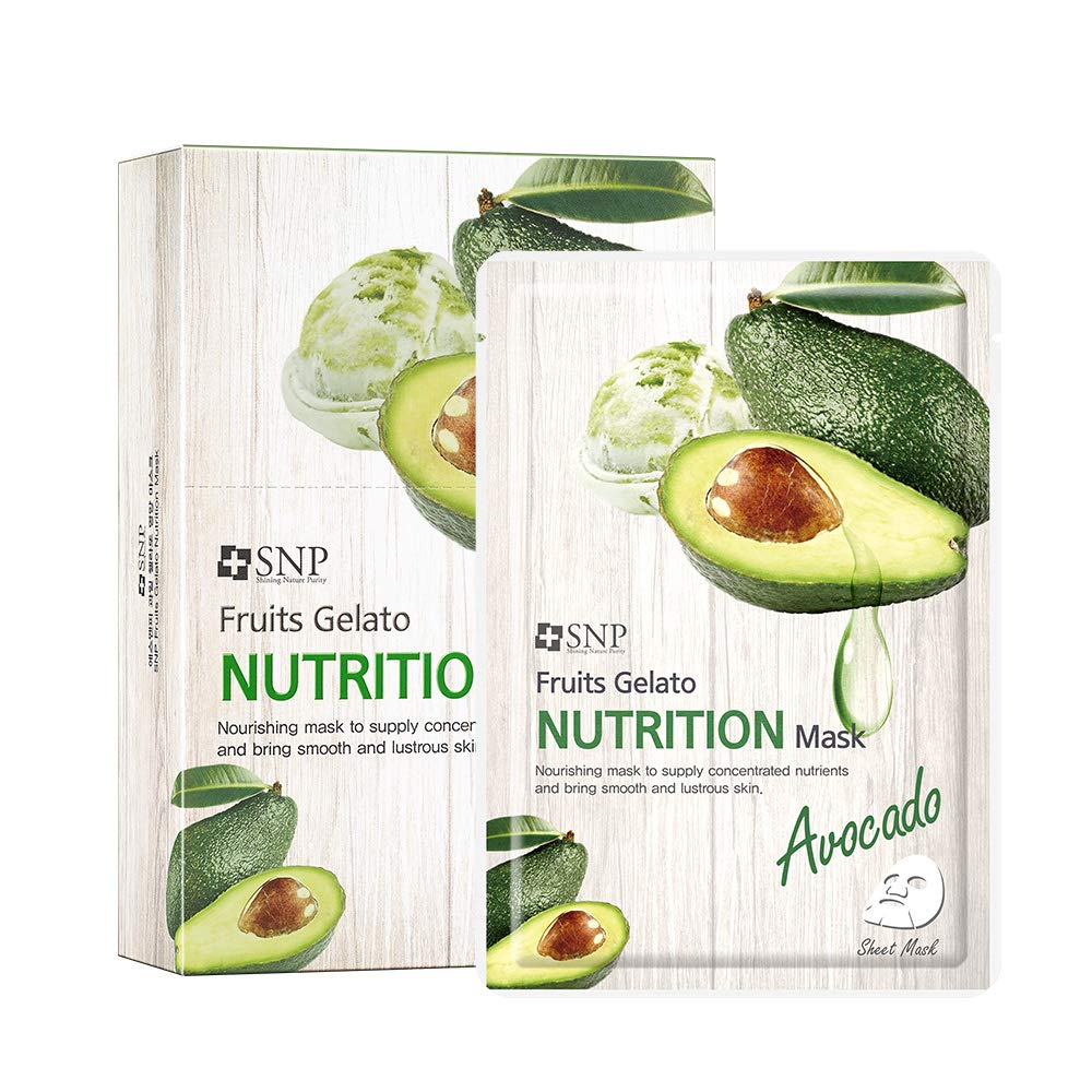 SNP Avocado Fruits Gelato Face Mask Sheet (10 Pack)