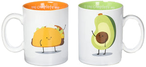 Avocado and Taco Coffee Tea Mug Set