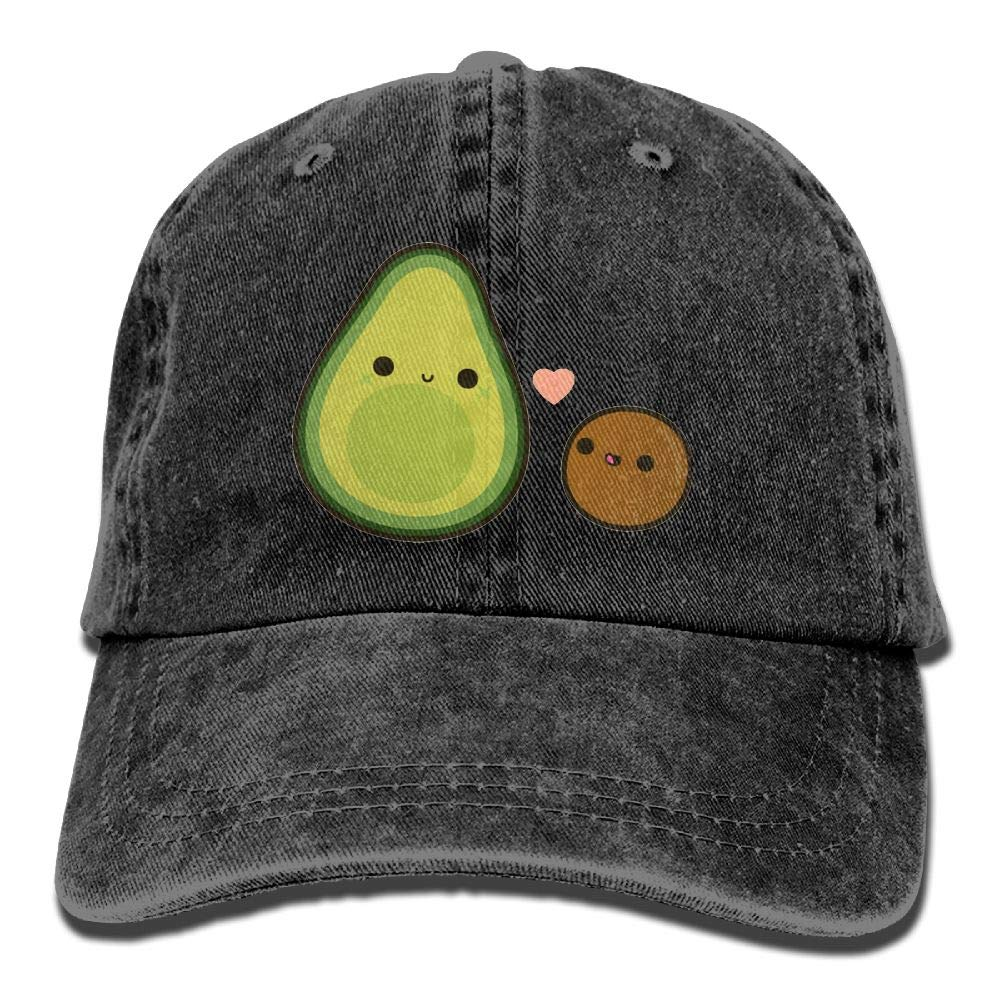 Avocado and Stone Unisex Denim Baseball Cap