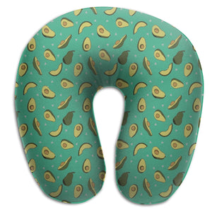 Avocado Triangles Memory Foam Travel Neck Pillow